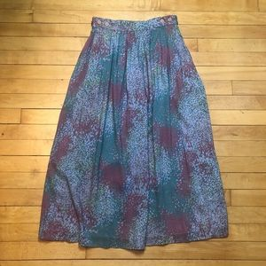 Nordstrom Town Square Vintage Rayon Maxi Skirt
